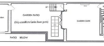 floor plan showing one room in front, 2 bedrooms in back and kitchen and bathroom in middle